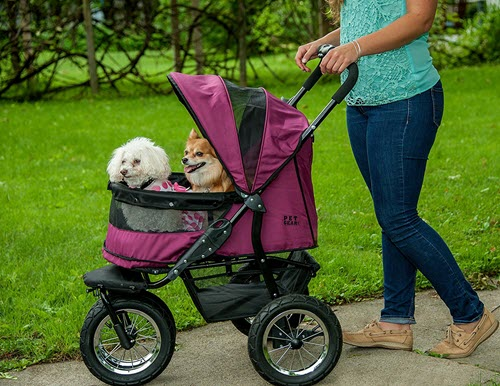 best pet strollers double-no-zip prams for carrier-folding-3-wheels-cat-dog-travel-strolling carriage cart review