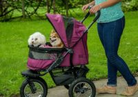 best pet strollers double no zip prams for carrier folding 3 wheels cat dog travel-strolling carriage cart reviews